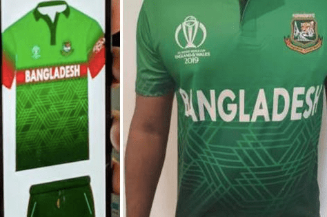 f0a1526f2 Bangladesh Cricket Board forced to change colour scheme of World Cup Kit  Design