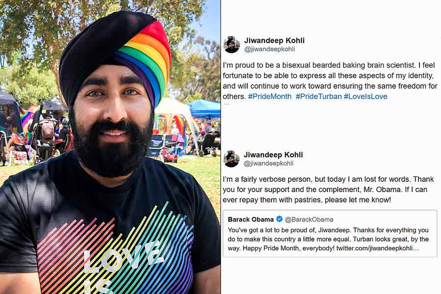 Sikh wearing rainbow turban for Pride Month, gets support from Obama