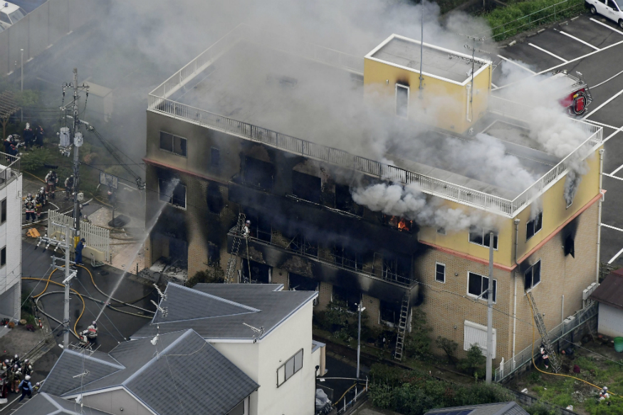 33 feared dead in Kyoto studio fire, PM Abe calls incident 'too appalling for words'