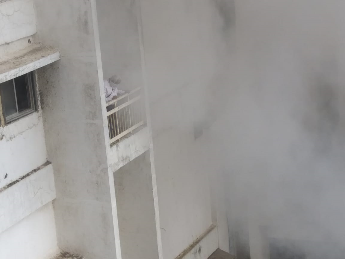 Firefighters rescue all people after fire breaks out in Mumbai telephone exchange building