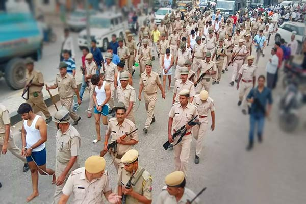 Rajasthan cop made 13 men walk through the street of Alwar half-naked