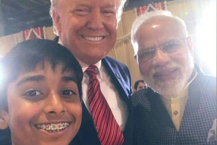 Meet the boy who clicked a selfie with PM Modi, Prez Trump, together!