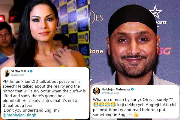Harbhajan Singh & Veena Malik fought on Twitter over Imran Khan's ...