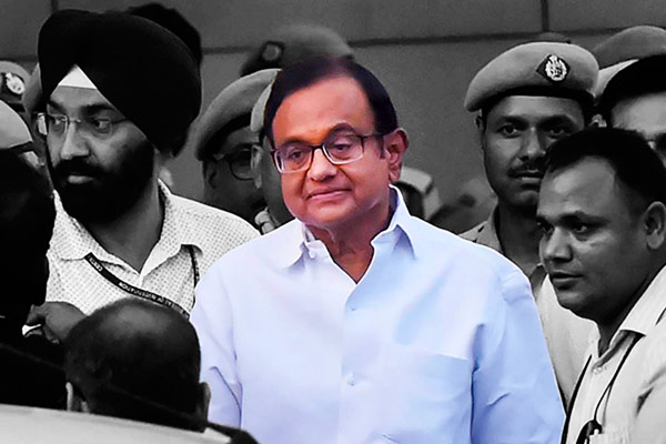 P Chidambaram arrested by ED after interrogation at Tihar Jail