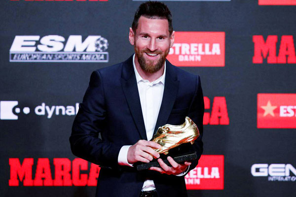 Messi wins record sixth European Golden Shoe