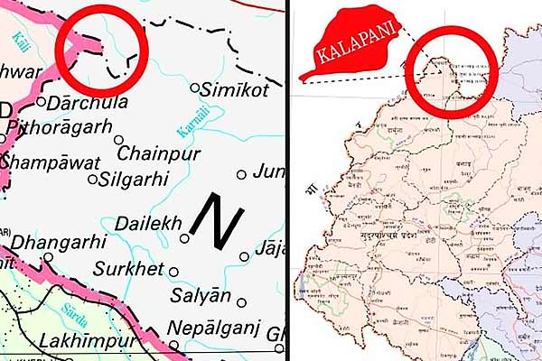 Nepal's objection to new map of India Told Kalapani his share