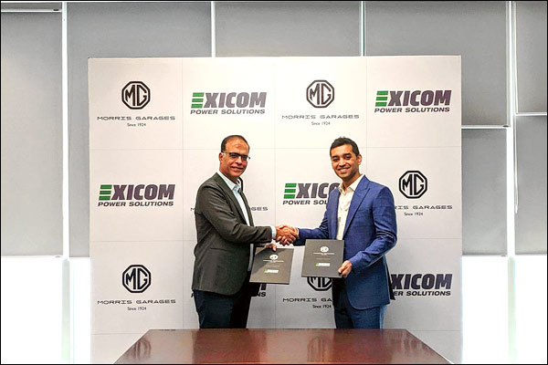 MG Motor India's agreement with Exicom Tele-Systems for Battery Reuse