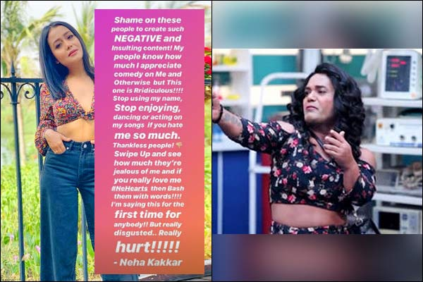 Neha Kakkar slams Gaurav Gera and Kiku Sharda's comic act based on her