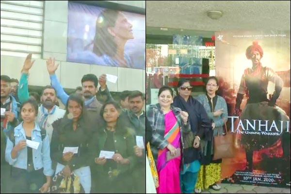 Bhopal BJP distributes Tanhaji tickets while NSUI supports Deepika Chhapaak