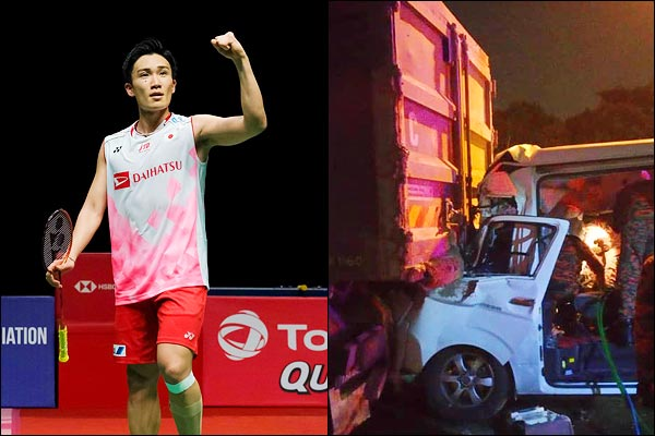 Badminton world no.1 Kento Momota hurt in Malaysia crash