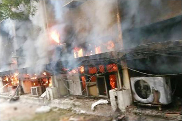 Fire Breaks Out at Delhi Transport Department Office and  8 Fire Tenders Rushed to Spot