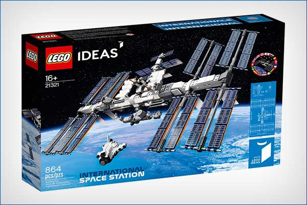 Lego made an International Space Station kit including Space Shuttle and robotic arm
