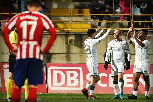 Atletico Madrid suffered a shock defeat to Cultural Leonesa