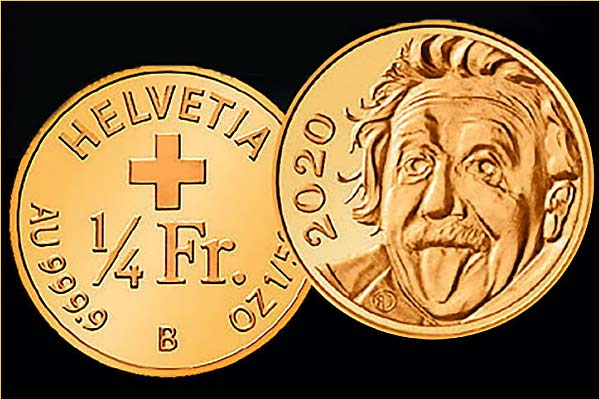 Switzerland issued the smallest gold coin