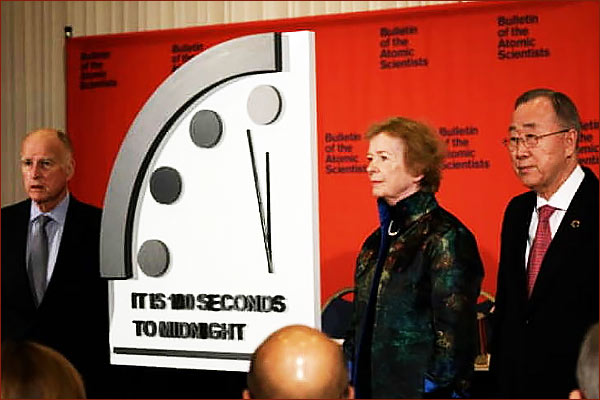 Doomsday Clock again indicates nuclear war and climate crisis