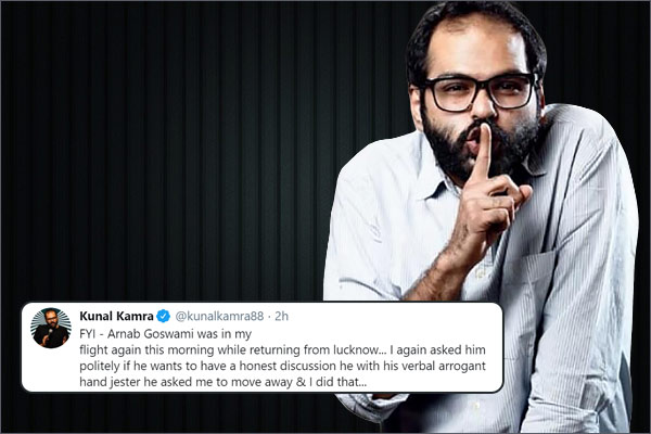Arnab Goswami faces Kunal Kamra again on flight and four airlines suspend comedian