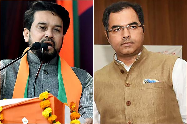 EC bans Anurag Thakur from campaigning for 72 hours and Parvesh Verma barred for 96 hours