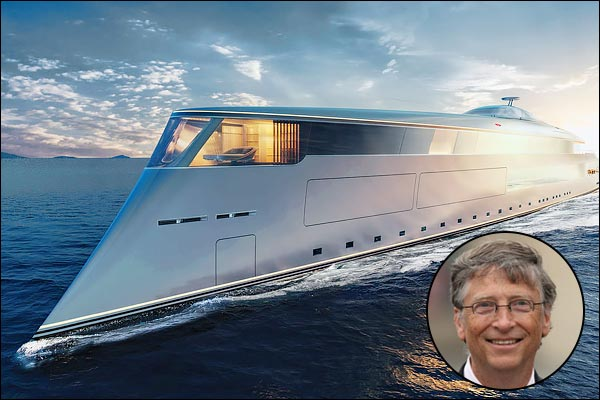 Bill Gates buys a luxurious carbon-emission free ₹4600 crore Superyacht Aqua