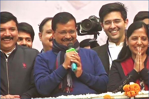 Arvind Kejriwal thanks lord Hanuman Delhi voters after victory