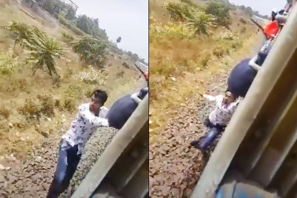 Tik Tok user falls of running train  Railway Ministry shares video