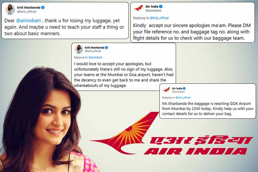 Kriti Kharbanda slams Air India for losing her luggage