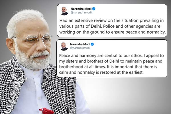 PM Modi appeals Delhi to maintain Peace and harmony
