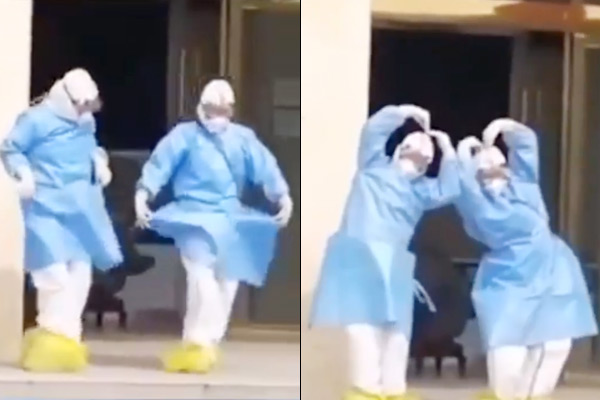Corona virus Doctor shouts on improvement in patient condition, video goes viral