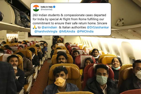 Air India flight with 263 students from coronavirus hit Italy lands in Delhi
