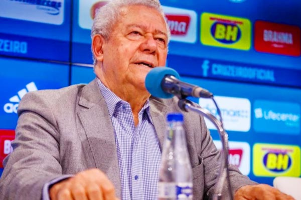 Cruzeiro President Jose Dalai Rocha tests ositive