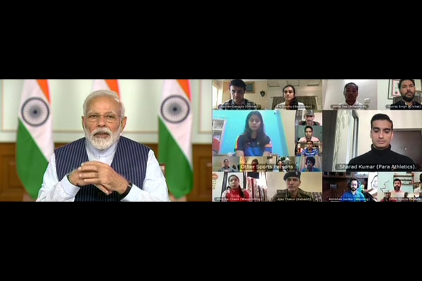 Need fighting spirit like Virat to tackle coronavirus says  PM Modi during interaction with sportspe