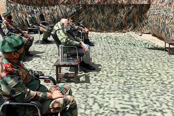 PM Modi reaches Ladakh to take a stock amid news of CDS General Rawat visiting the base