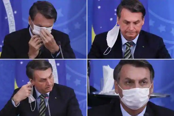 Brazilian media community to sue Jair Bolsonaro as he put off his mask in front of reporters despite