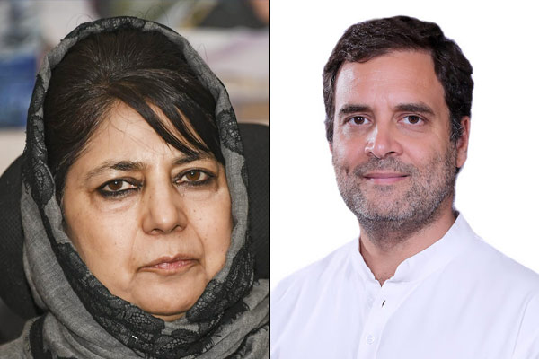 Rahul Gandhi demands for the release of Mehbooba Mufti says detaining politicians is a loss of democ