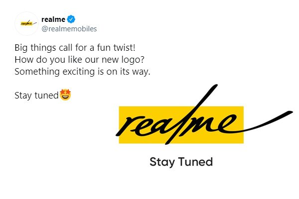 Realme again changed its logo gave information through tweet