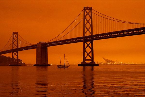 San Francisco's sky turned orange